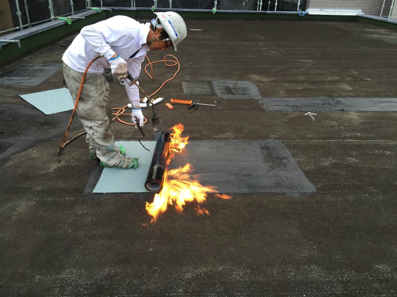 屋上修繕、防水塗装工事