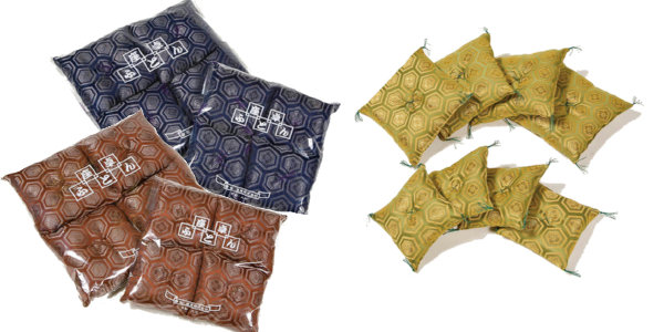 新高級亀甲柄織(新わた入)15cm角 4枚組 ビニール袋入