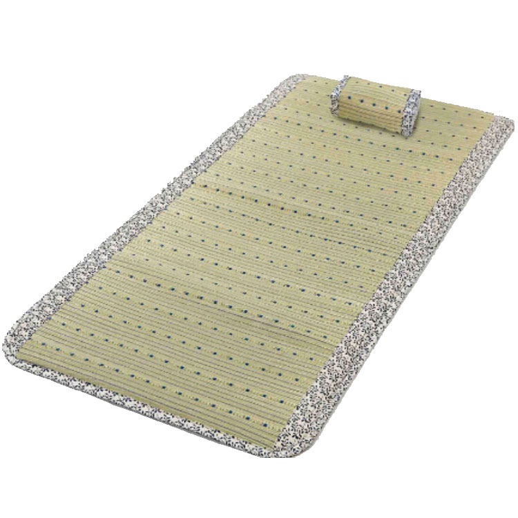 イ草マットレス アムール ブルー 夏の快適お昼寝セット 「い草100%」 枕付き