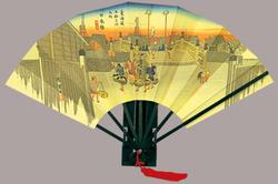 広重 東海道五十三次 飾り扇子 版画扇 広重日本橋