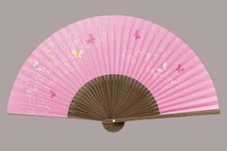 婦人用扇子 6.5寸 35間 唐木中彫 蝶
