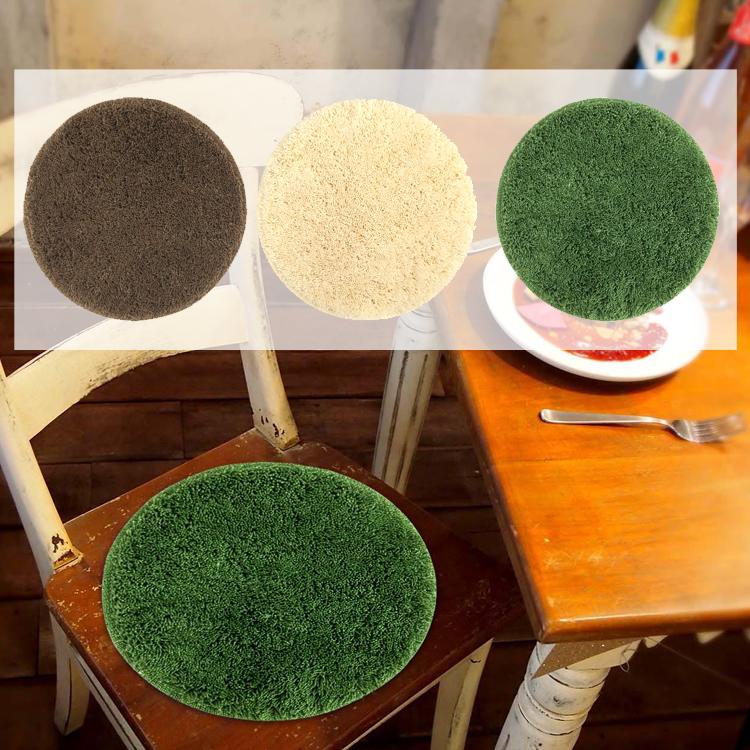 カラーモードプレミアム チェアパッド 直径35cm ブラウン アイボリー  円形