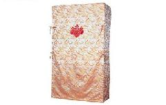 西陣織かも川・千羽鶴たんすゆたん(刺繍紋いり) 四方包<間口139cm以上(生地幅つなぎ)>