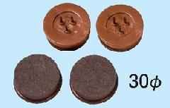 フロアーガード(硬質)φ30mm(フェルト付打ち込みタイプ) 1組4ヶ入り