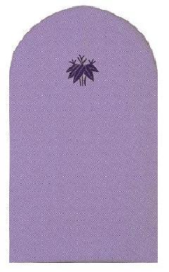 ドレッサーカバー 京かのこ織・紫(紺糸) (家紋入り)【受注生産】