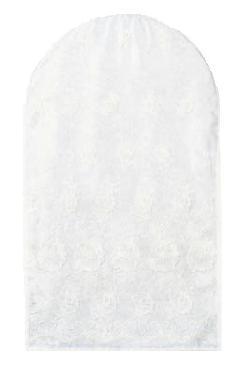 エンブロイダリィーレース(刺繍レース) ホワイト 仕立て限界寸法130cm以内