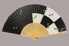 紳士用扇子 7.5寸 35間 白竹中彫 トンボ