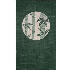 新古典 丸に竹 88×150cm 麻100%