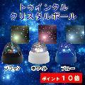 トゥインクルクリスタルボール ブラック ホワイト ブルー シアター インテリアライト プラネタリウム