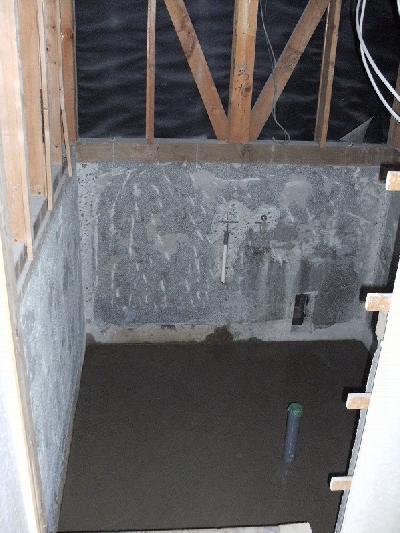 浴槽、壁と床のタイルやコンクリートをとりました