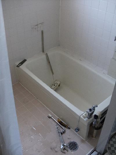 浴槽と給湯器を取り替えました