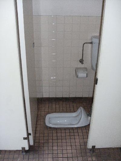 和式のトイレでした