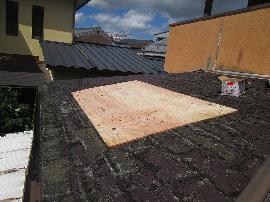 雨漏り箇所の下地補強
