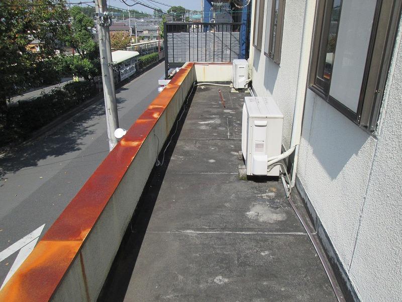 施工前 ゴムシート防水