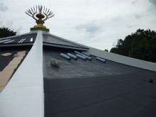 お寺の伽藍の防水加工