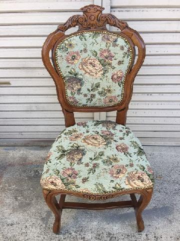 ロココ調 アンティーク椅子張り替え イタリア製