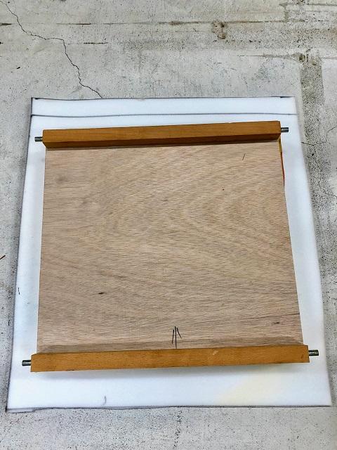 製作した座板