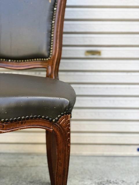 施工前 ロココ調アンティーク椅子猫脚