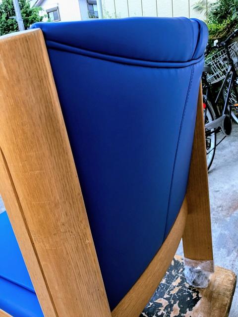 富士見市 シラカワ社製 ダイニングチェア張り替え キャスター交換