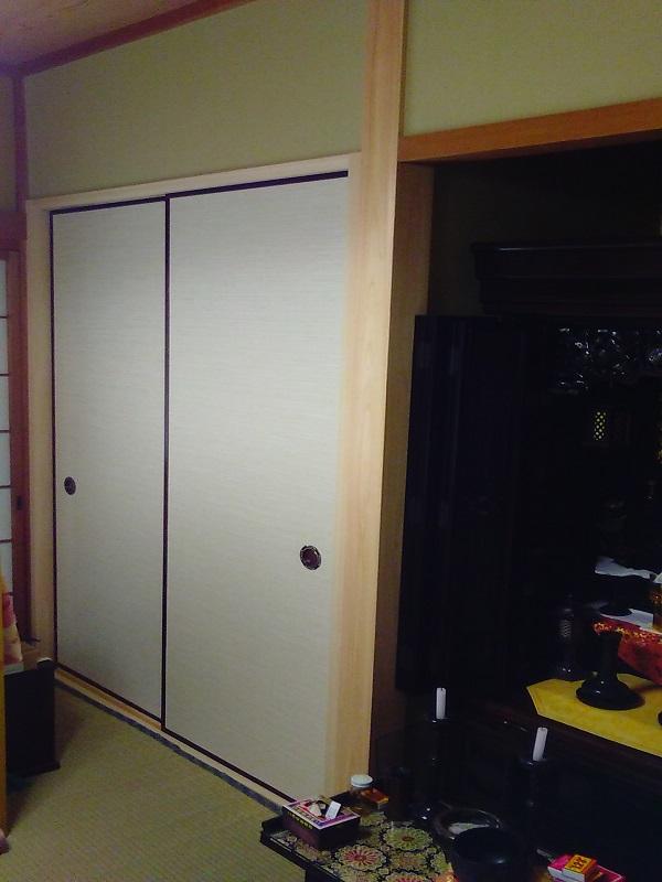 I邸 1F和室の収納 仕上がり