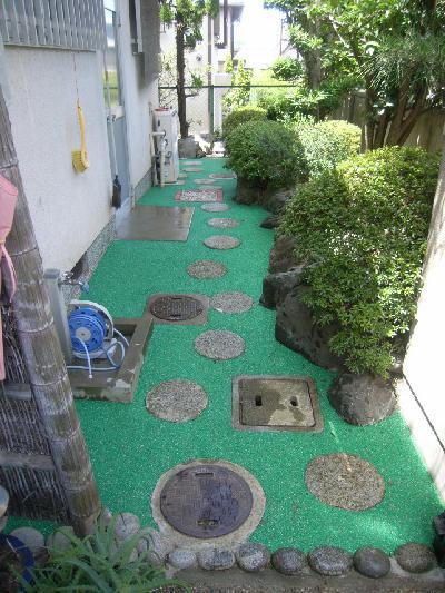 ゴムチップ舗装に施工