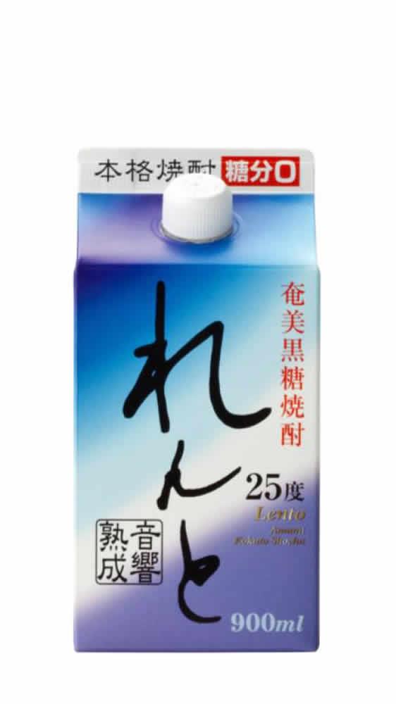 奄美黒糖焼酎「れんと」900ml紙パック