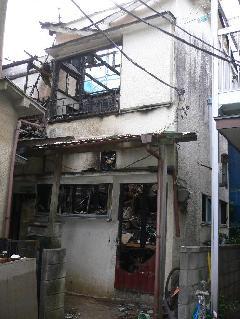 罹災建家解体工事 千葉県市川市