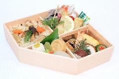 秋のプレミアム五角弁当 (松茸御飯入り)