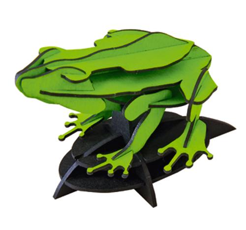 カエル【蛍光グリーン】(ディスプレイスタンド付)