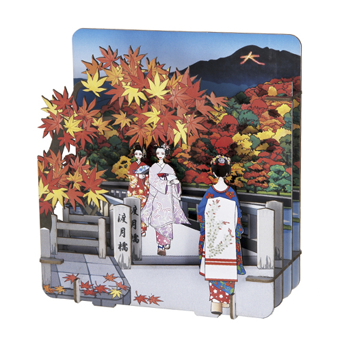 嵐山<渡月橋紅葉>