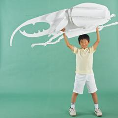 エコボード<ビッグ昆虫オブジェ>組立式 ホワイトタイプ
