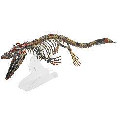 <越前和紙>モササウルス(台座付)<紅>