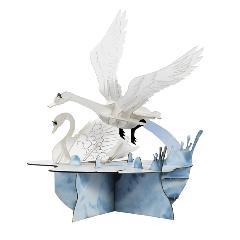 白鳥の飛び立ち(飾り台付)☆