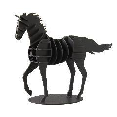 馬(走りポーズ)ブラック