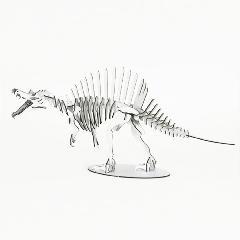スピノサウルス<シルバー>専用台付