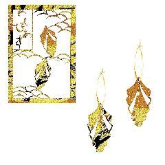 <越前和紙>檜の葉ピアス