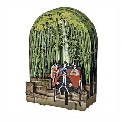 竹林と人力車