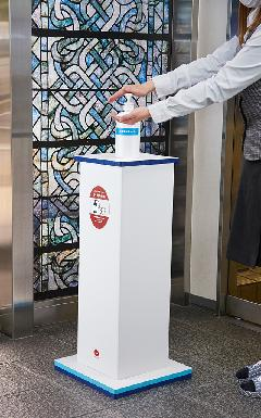 消毒液ボトルスタンド