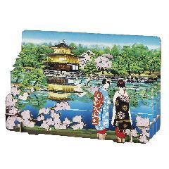 <切絵>京都・金閣寺と舞妓