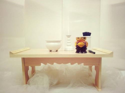 枕飾り(白木枕・仏具一式)