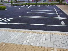 埼玉県 ライン・車止めなど駐車場舗装