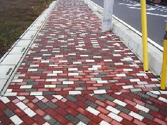埼玉県の歩道舗装 インターロッキング
