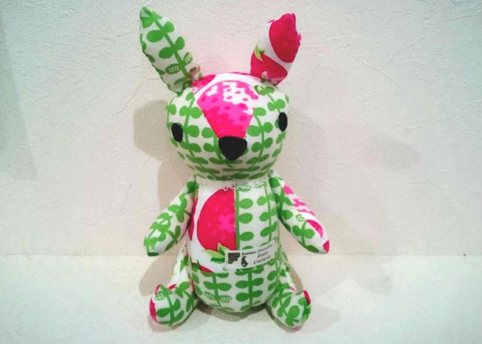 ぬいぐるみウサギ【イチゴ&グリーン】