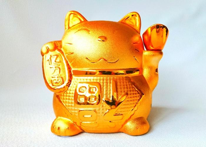 招き猫ゴールド (大)
