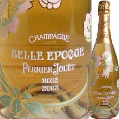 フランス産シャンパン ペリエ・ジュエ ベルエポック ロゼ 2002(箱なし)