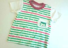 kumaボーダーTシャツ(緑)
