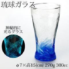 海蛍 アイスロンググラス青
