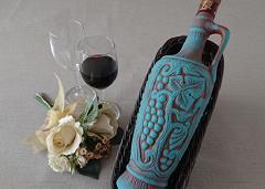 ジョージア産 赤ワイン 【サペラヴィ 陶器ボトル入り】