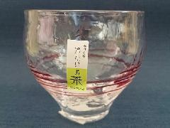 手作り 冷たいお茶フリーグラス ピンク HG520-02