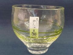 手作り 冷たいお茶フリーグラス グリーンHG520-03
